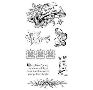 GRAPHIC 45 Rubber Stamp, Sweet Sentiments