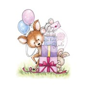 Wild Rose Studio`s A7 Stempel-Set Mouse on Presents