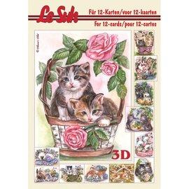 Bücher, Zeitschriften und CD / Magazines 3D Buch A5, KATZEN