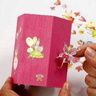 Objekten zum Dekorieren / objects for decorating Bastelset: sostenedor de la pluma para pintar y decorar con pegatinas de brillo