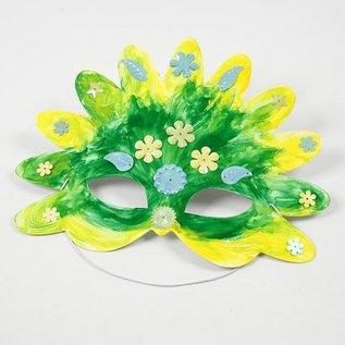 Kinder Bastelsets / Kids Craft Kits Bastelset: 16 Fairy Tale Maskers, H: 13,5-25 cm, 220 g + Sequin Mix, Maat 15-45 mm