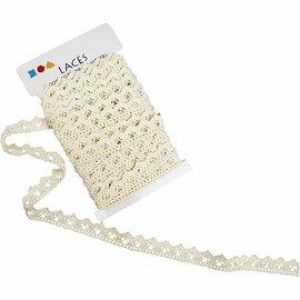 DECOUPAGE AND ACCESSOIRES Crochet, B: 19 mm, crème, vendu au mètre