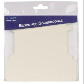 KARTEN und Zubehör / Cards 10 Musikboxen, gestanzt, für den Einbau von Voice/Soundmodul universal, 10,5 x 4,5 x 1 cm