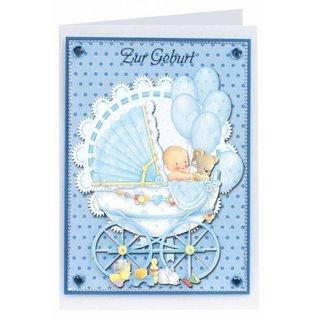 3D Stanzbogenset birth gift tags