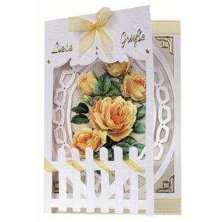 BASTELSETS / CRAFT KITS Bastelset: Fence Cards Roses