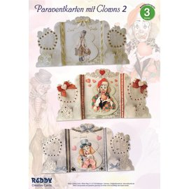 BASTELSETS / CRAFT KITS Bastelset: Paravantkarten mit Clowns