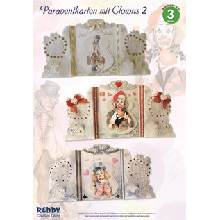 BASTELSETS / CRAFT KITS Bastelset: Paravantkarten with clowns