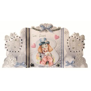BASTELSETS / CRAFT KITS Bastelset: Paravantkarten avec des clowns