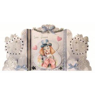 BASTELSETS / CRAFT KITS Bastelset: Paravantkarten met clowns