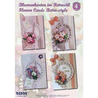 BASTELSETS / CRAFT KITS Bastelset: Floral card in retro style