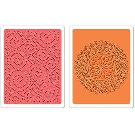 Sizzix 2 cartelle goffratura, Dot Swirl & Me