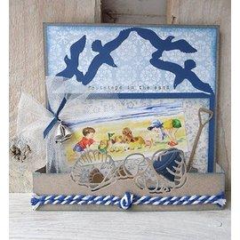 Marianne Design Marianne Design, stempling og prægning mappe, Lillebror folde det - måger