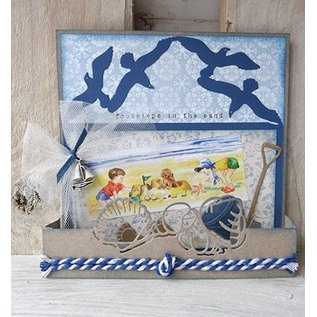 Marianne Design Marianne Design, stamping and embossing folder, Tiny's folding it - seagulls