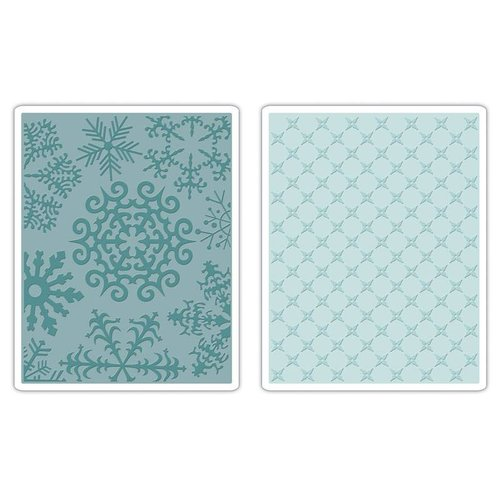 Sizzix 2 Embossing Folder 11,43x14,61 cm, snowflake and stars