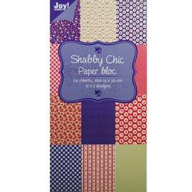 Joy!Crafts / Jeanine´s Art, Hobby Solutions Dies /  Bloque de papel, 15x30cm - Shabby Chic (azul)