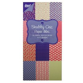 Joy!Crafts / Jeanine´s Art, Hobby Solutions Dies /  Papir bloc, 15x30cm - Shabby Chic (blå)