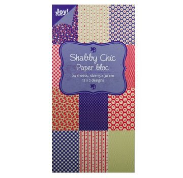 Joy!Crafts / Jeanine´s Art, Hobby Solutions Dies /  Paper bloc, 15x30cm - Shabby Chic (blue)