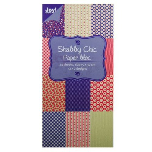 Joy!Crafts / Jeanine´s Art, Hobby Solutions Dies /  Papir blok, 15x30cm - Shabby Chic (blå)