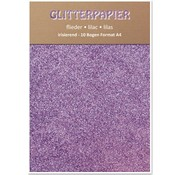 Karten und Scrapbooking Papier, Papier blöcke Glitter iridescent paper, A4, 150 g / m², lilac