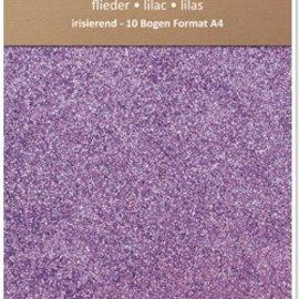 Karten und Scrapbooking Papier, Papier blöcke Papel iridiscente brillo, formato A4, 150 g / m², lila