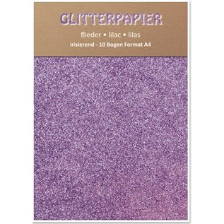Karten und Scrapbooking Papier, Papier blöcke Glitterpapier irisierend, Format A4, 150 g / qm, flieder