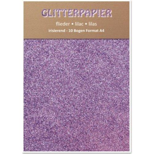 Karten und Scrapbooking Papier, Papier blöcke Glitter iriserende papier, A4, 150 g / m², lila