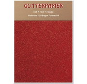 Karten und Scrapbooking Papier, Papier blöcke Glitter iridescent paper, A4, 150 g / sqm, red