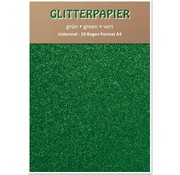Karten und Scrapbooking Papier, Papier blöcke Glitter iridescent paper, A4, 150 g / m², green