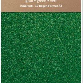 Karten und Scrapbooking Papier, Papier blöcke Papel brillo iridiscente, A4, 150 g / m², verde