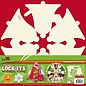 Objekten zum Dekorieren / objects for decorating 3 mini-plakboekboek in de vorm van een kerstboom, kerstbel of kerstbal!