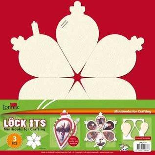 Objekten zum Dekorieren / objects for decorating 3 Mini Scrapbook Buch im Form von ein Weihnachtsbaum, Weihnachtsglocke oder Weihnachtskugel!