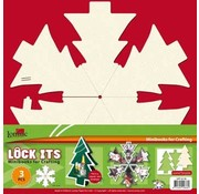 BASTELSETS / CRAFT KITS 3 mini scrapbook book in the shape of a Christmas tree, Christmas bell or Christmas ball!