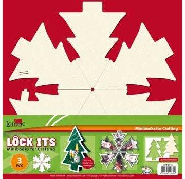 BASTELSETS / CRAFT KITS 3 mini scrapbog bog i form af et juletræ, juleklokke eller julekugle!
