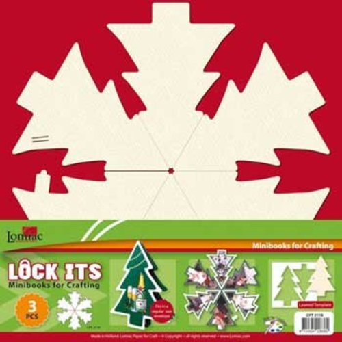 BASTELSETS / CRAFT KITS 3 mini cahier de scrapbooking en forme d'arbre de Noël, de cloche de Noël ou de boule de Noël!