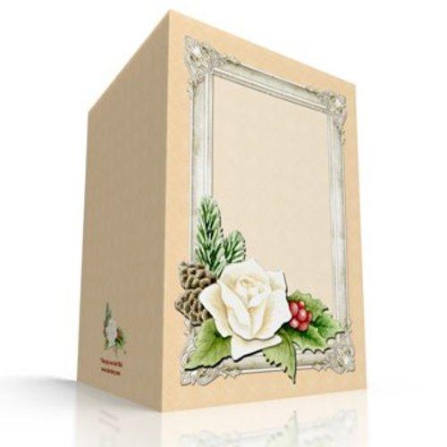 KARTEN und Zubehör / Cards Kit de bricolage pour les 3 Découpage Carte + 3 enveloppes