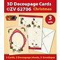 KARTEN und Zubehör / Cards Bastelset für 3 Decoupage Karten + 3 Umschläge