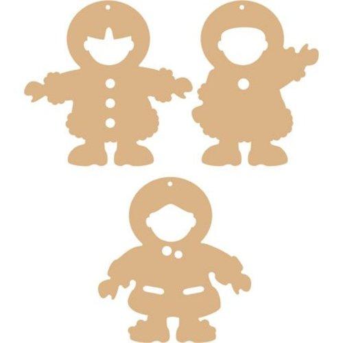 Objekten zum Dekorieren / objects for decorating 3 MDF ornamenter eskimoer