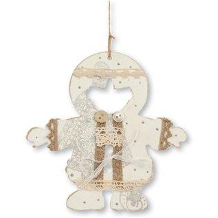 Objekten zum Dekorieren / objects for decorating 3 MDF ornamenten Eskimo