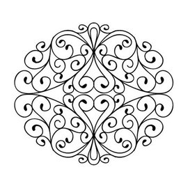 CREATIVE EXPRESSIONS und COUTURE CREATIONS Gummi Stempel, Stamps To Die For - Wrought Iron Swirls