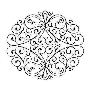 CREATIVE EXPRESSIONS und COUTURE CREATIONS Rubber stamp, stamps To Die For - Wrought Iron Swirls
