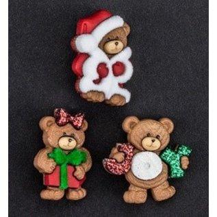 Embellishments / Verzierungen Dress it up, decoraties, Charms, add-ies - Christmas Bears