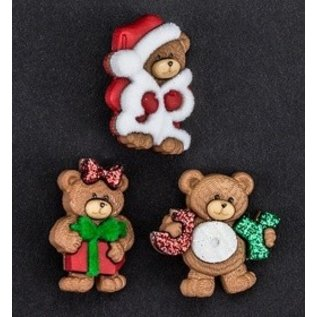 Embellishments / Verzierungen Dress it up, decorations, Charms, add-ies - Christmas Bears