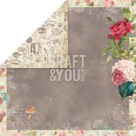 "Designer Papier Scrapbooking: 30,5 x 30,5 cm Papier Designer Paper ""Tea Time"", 30,5 x 30,5 cm"