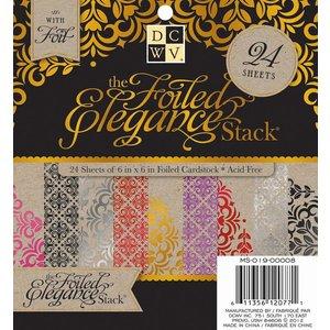 DCWV und Sugar Plum DCWV Designerblock, 24 Bogen 15,2 x 15,2 cm mit Folie verziert.