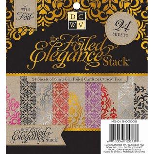 DCWV und Sugar Plum DCWV Designersblock, 24 fogli 15,2 x 15,2 cm decorati con un foglio.