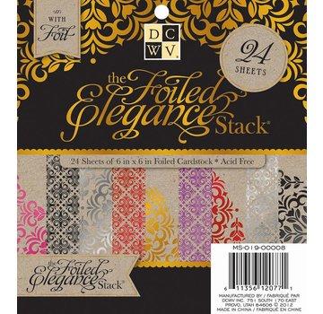 DCWV und Sugar Plum DCWV Designersblock, 24 15.2 x 15.2 cm versierd met folie.