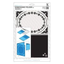 Docrafts / X-Cut Carpeta de grabación en relieve A4 - marco, copo de nieve