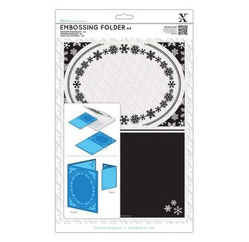 Docrafts / X-Cut A4 Embossing Folder - ramme, snefnug