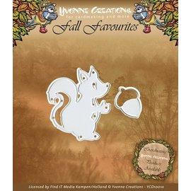 Yvonne Creations Yvonne Creations, presning og prægning stencil, egern