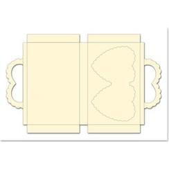 Caso conjunto con corazones, crema, formato 25x15cm, 3 piezas!